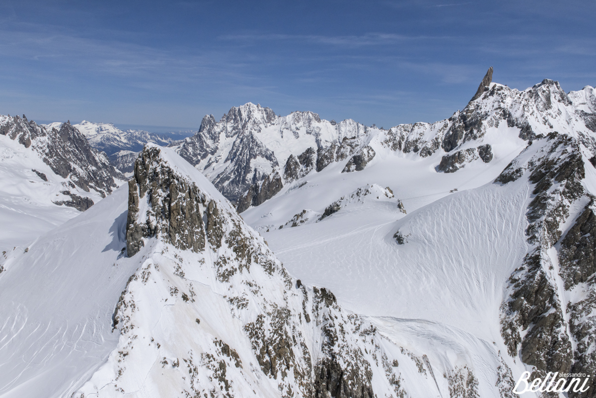 Aerial view of Monte Bianco group ITALY
