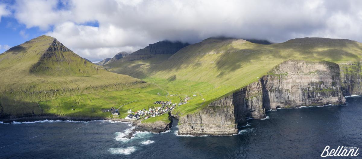 Aerial view of cliffs FAROE ISLANDS