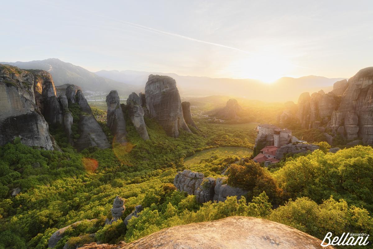 Beautiful landscape at Meteore GREECE