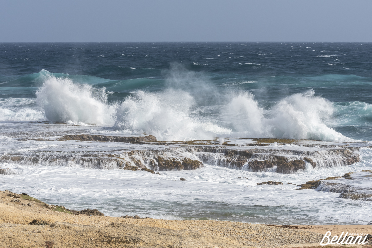 Big waves in the east cost of BARBADOS ISLAND