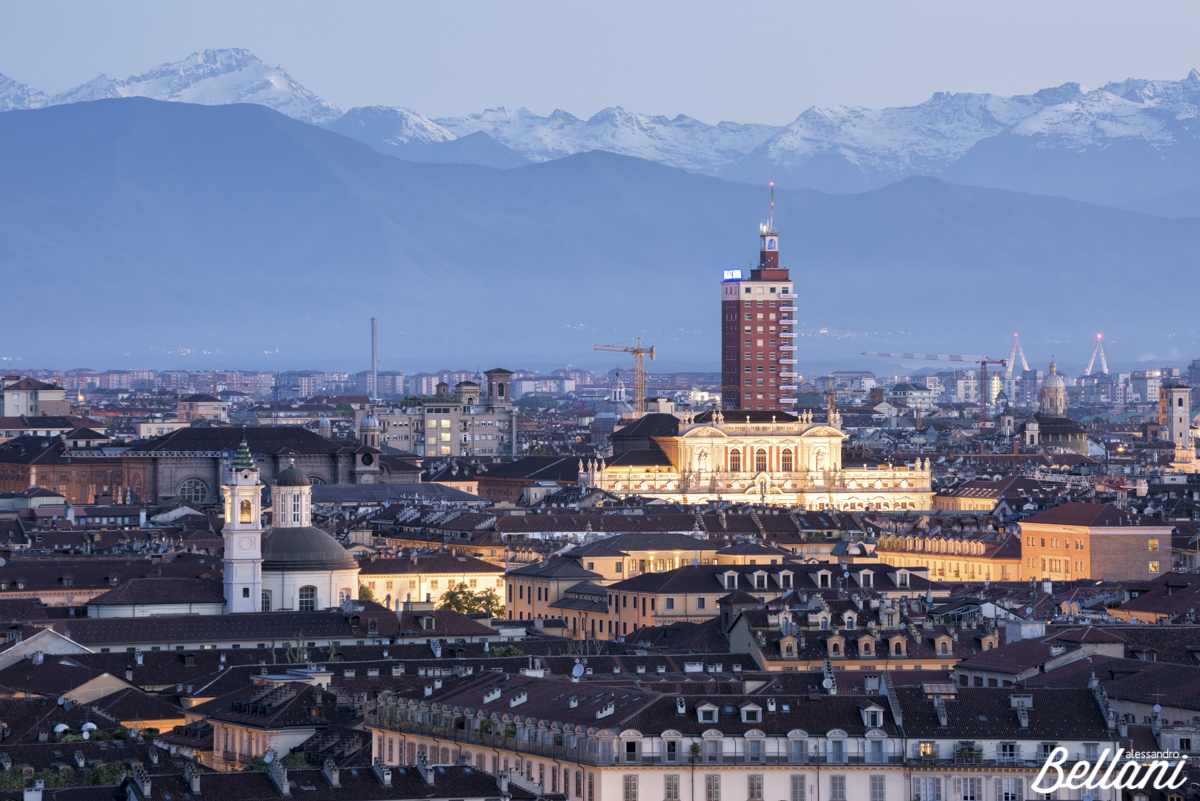 Blue hour in TURIN