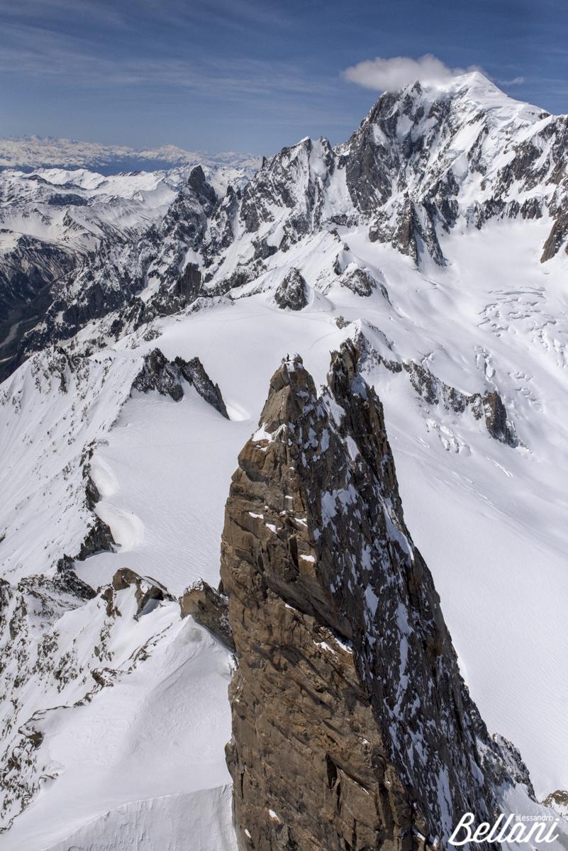 Dente del Gigante of Monte Bianco ITALY