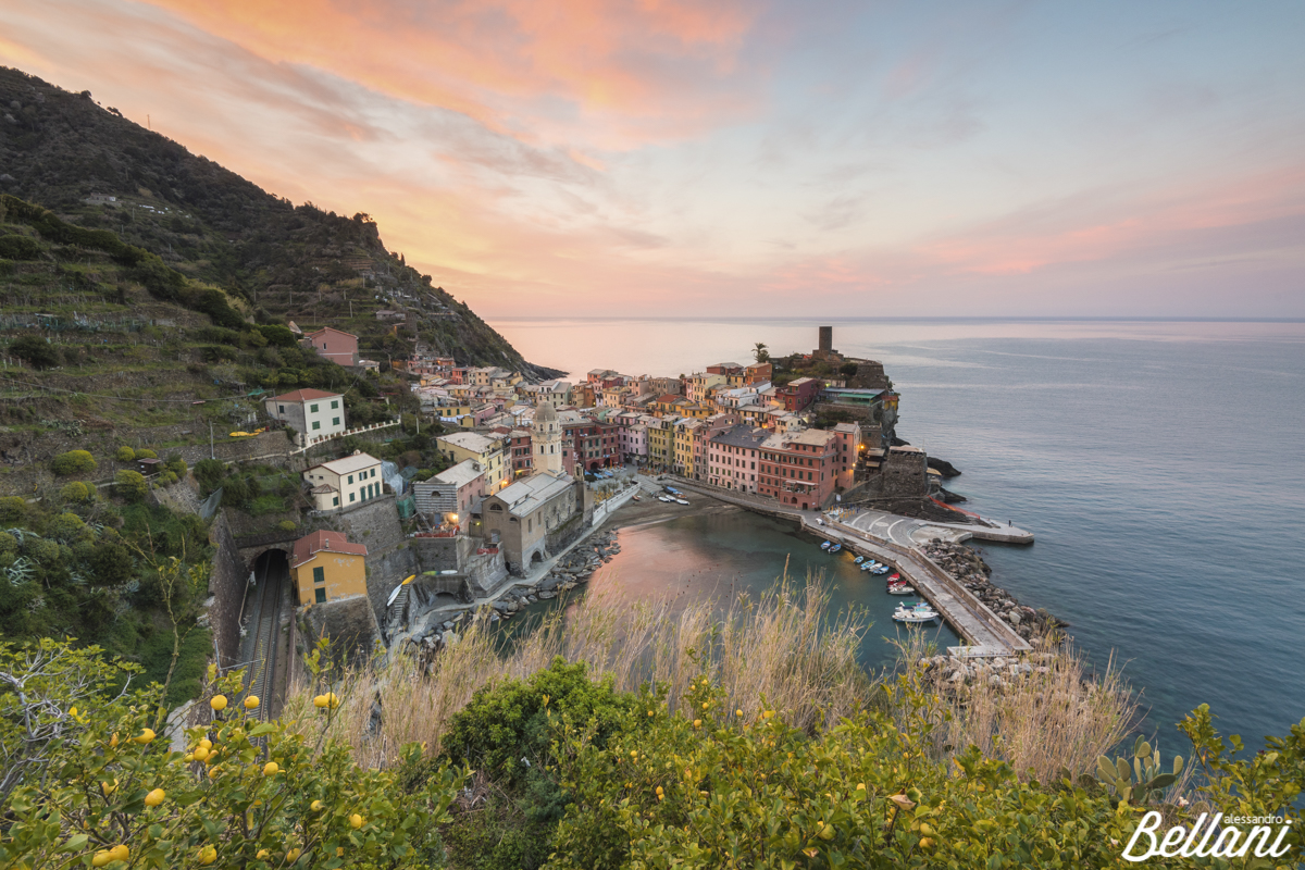 First light in Vernazza