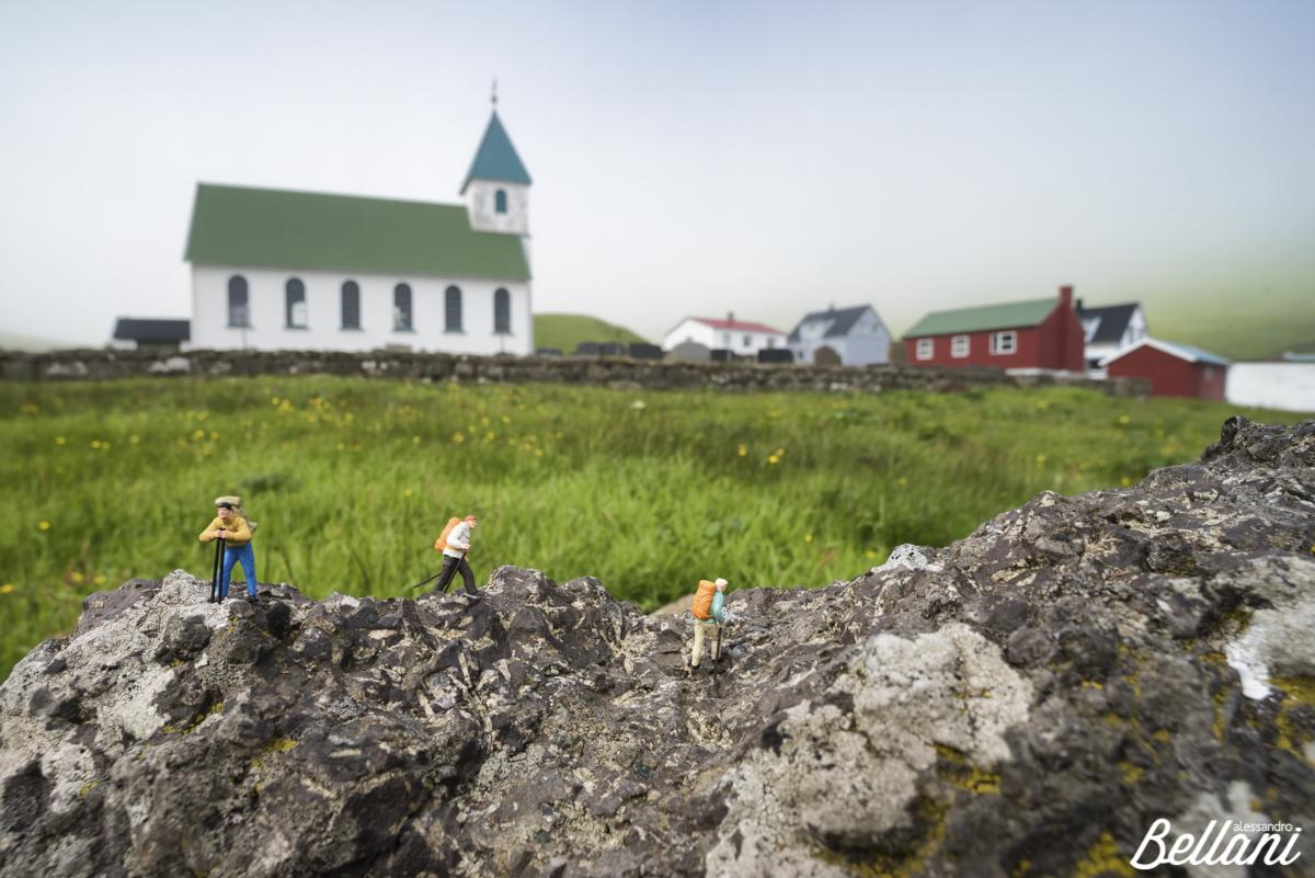 Hiker at Faroe Islands