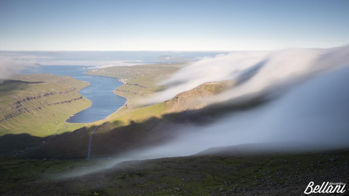 Long exposure of clouds FAROE ISLANDS