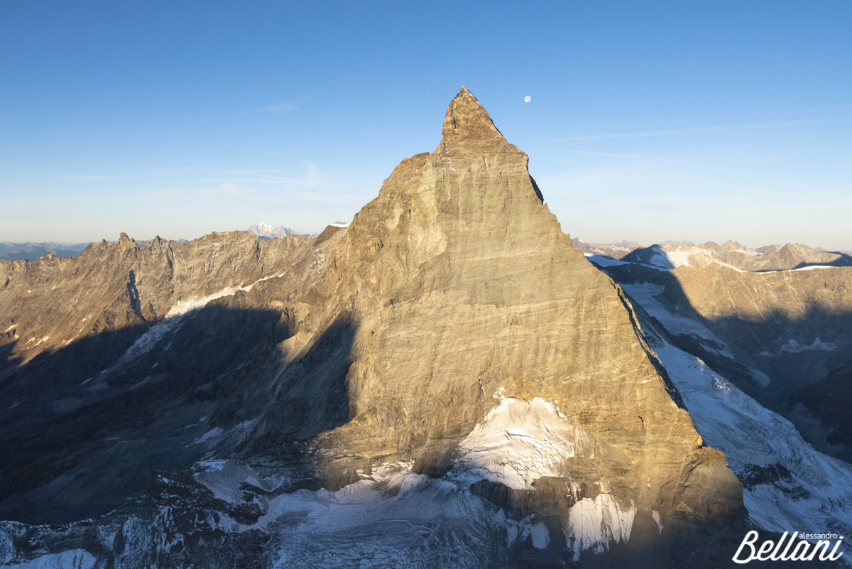 Matterhorn and moon ITALY