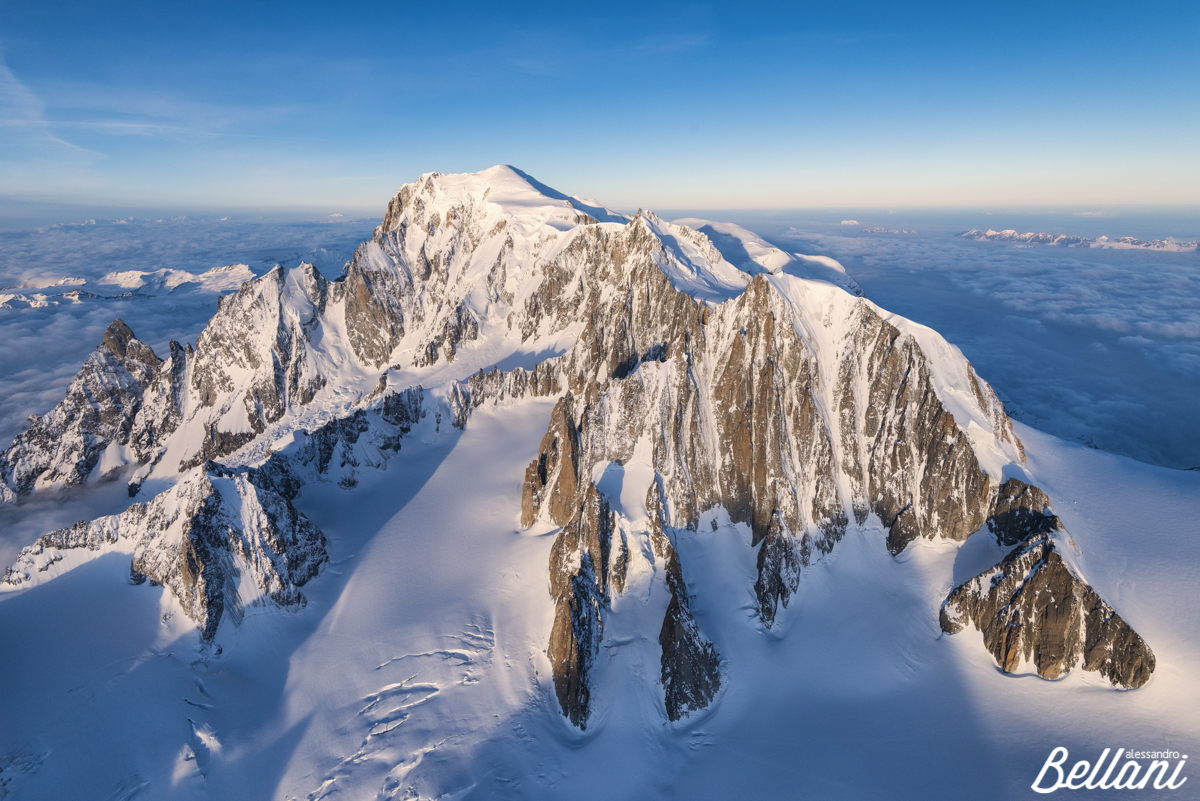 Monte Bianco during sunrise ITALY
