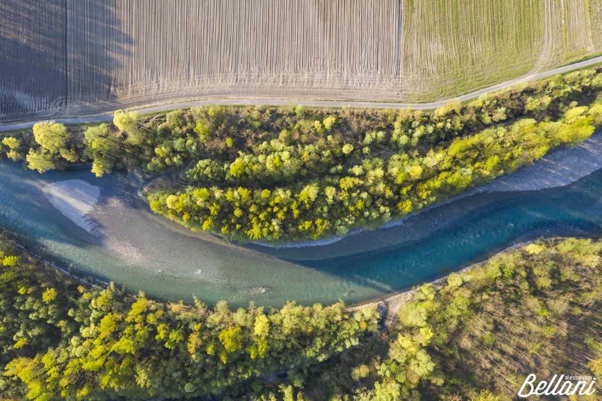 River Adda in Valtellina ITALY