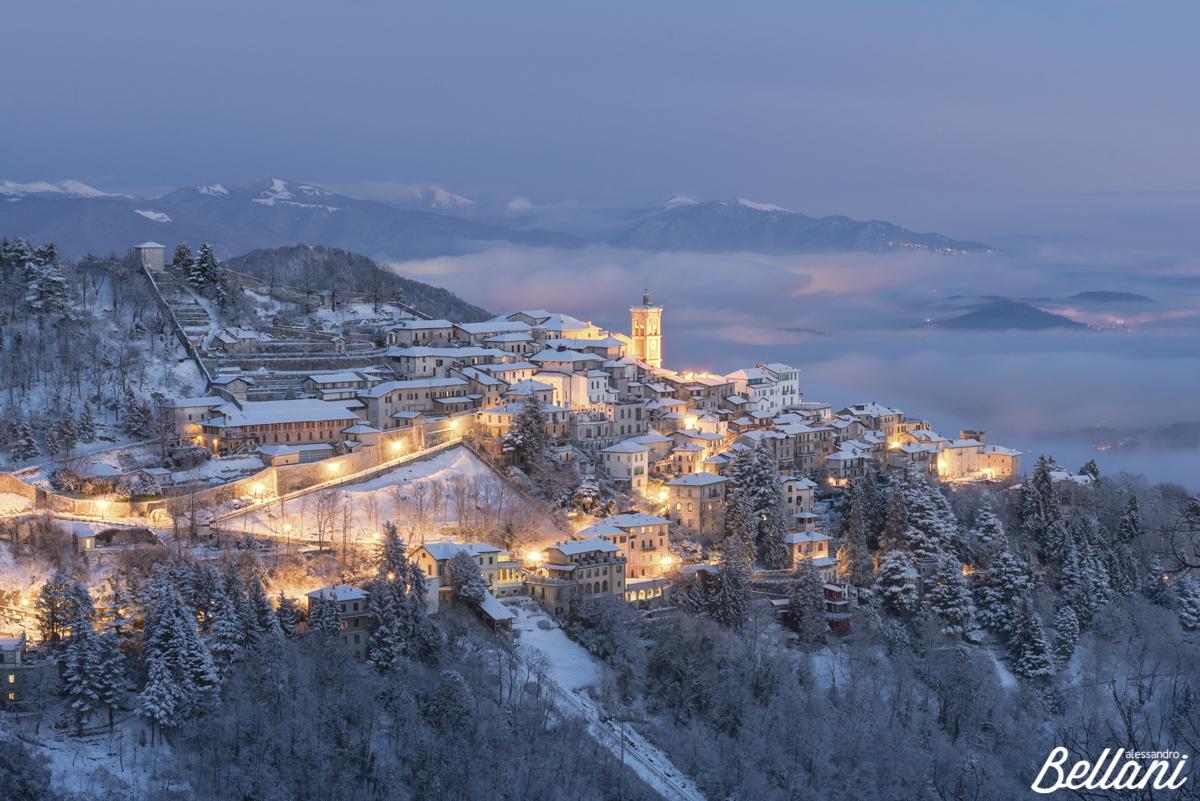 Sacro Monte at dusk