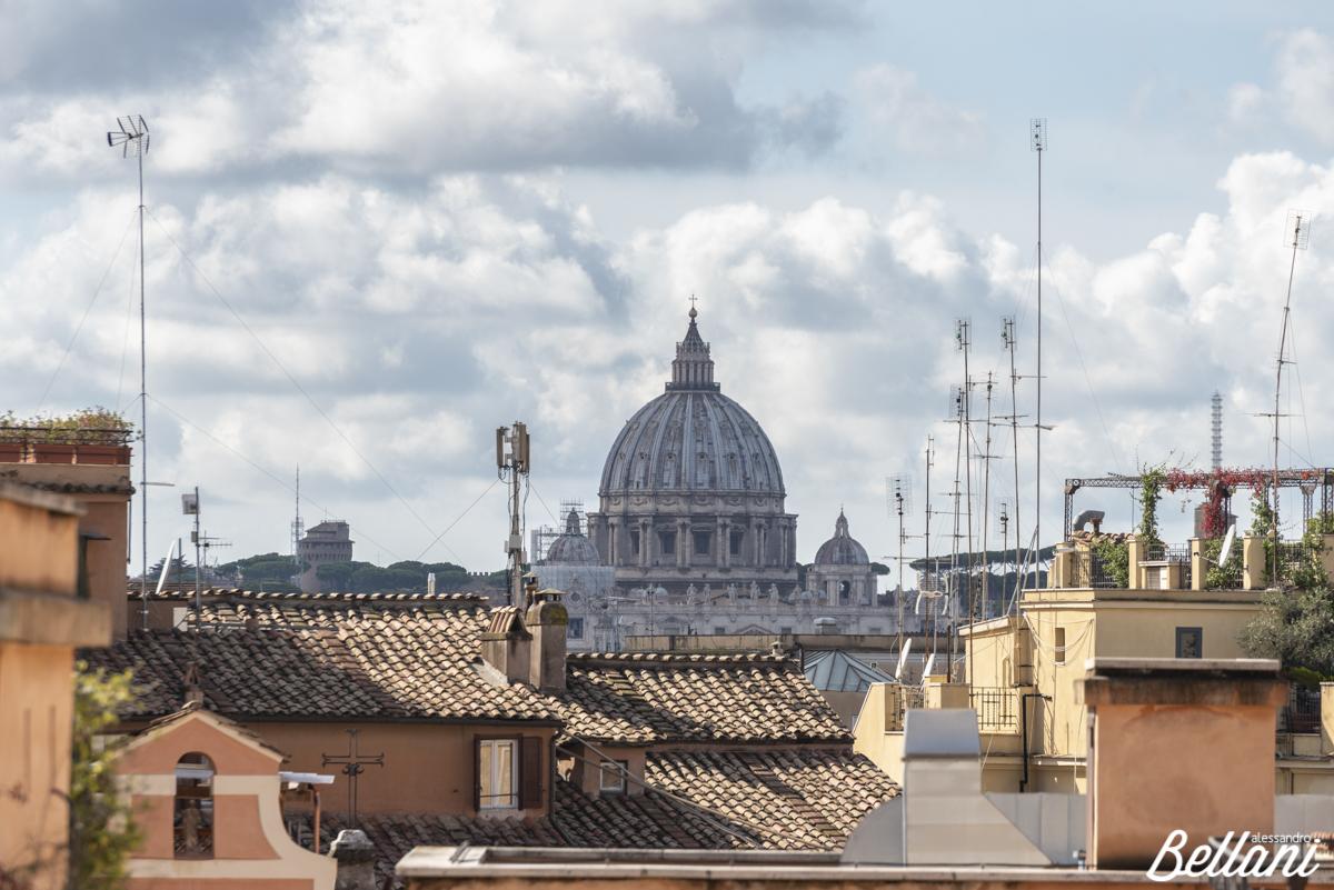The Basilica di San Pietro from square of Quirinale ROME