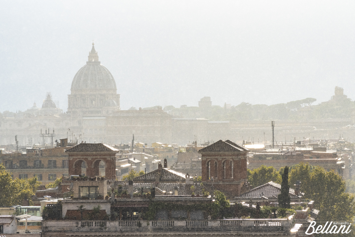 The St Peter's Basilica and city from the Pincial Hill ROME