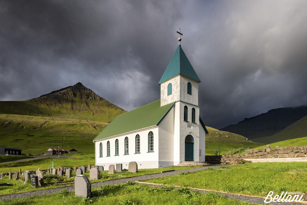 The church of Gjogv FAROE ISLANDS