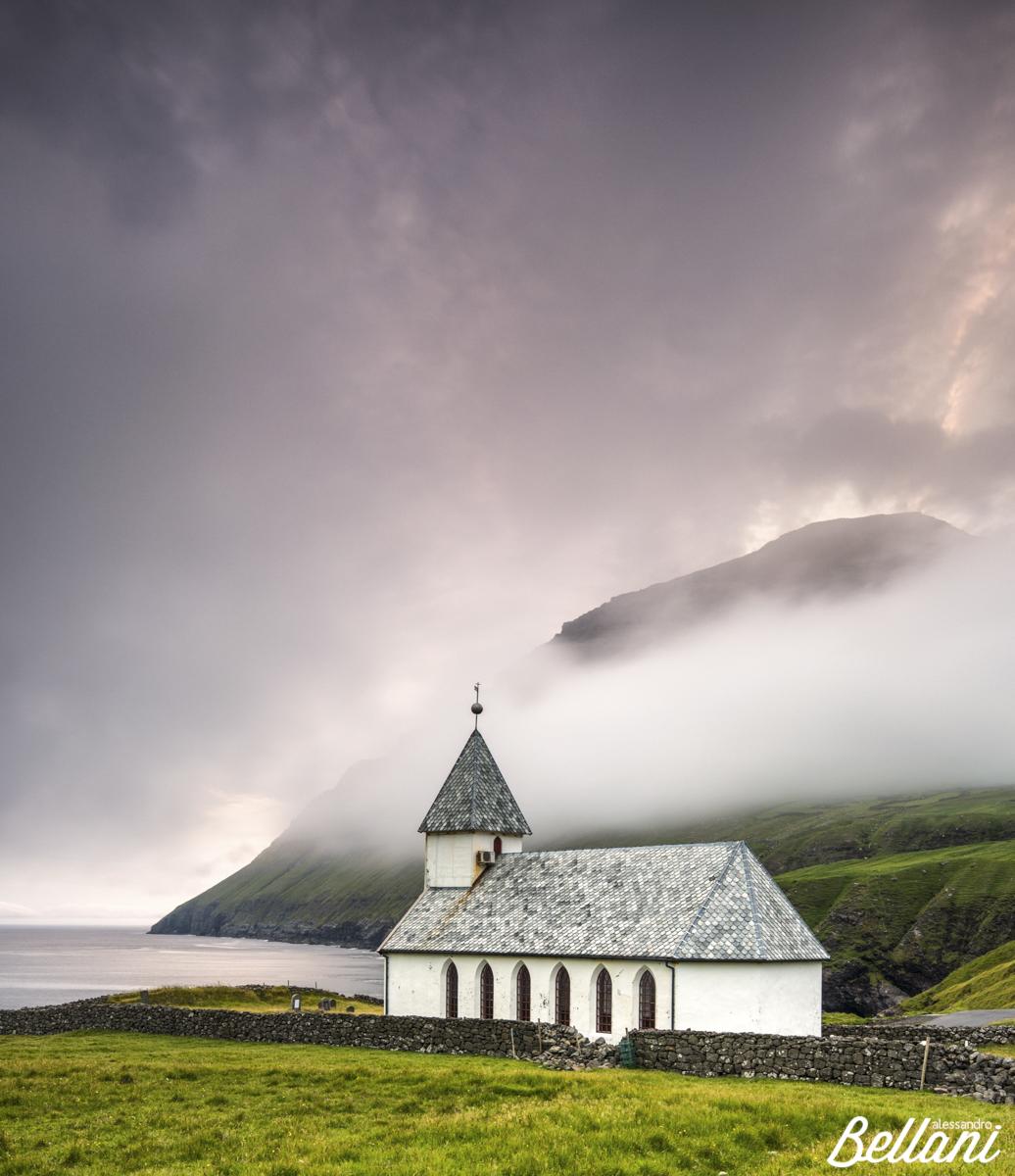 The church of Vidoy FAROE ISLANDS