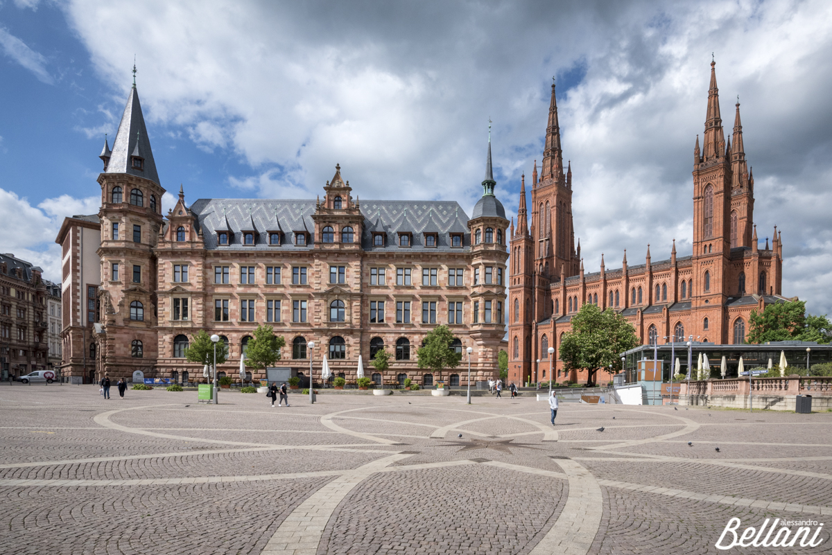 The square of Wiesbaden GERMANY;_