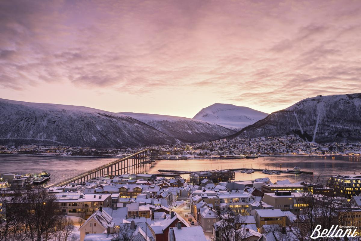 Tromsø at sunrire NORWAY