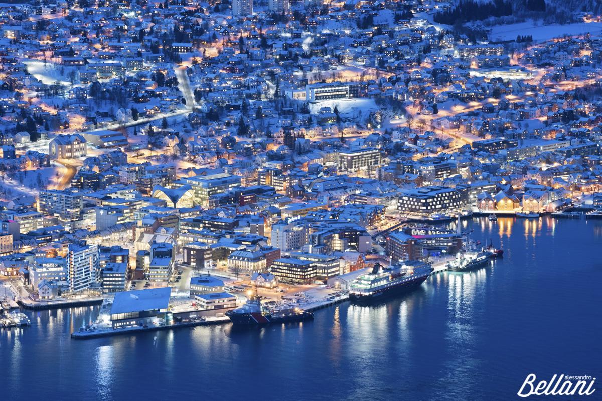Tromsø during blue hour NORWAY