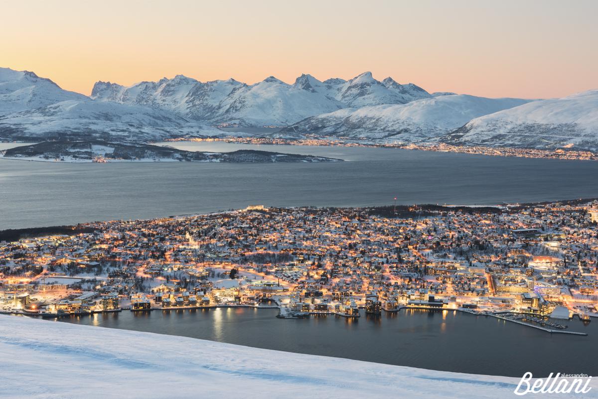 Tromsø during sunset NORWAY