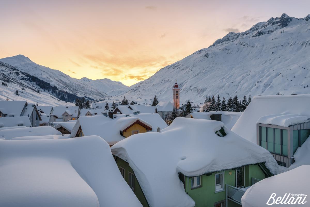 Winter landscape at Andermatt